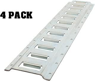 ABN E Track Rail – 2ft Horizontal E-Track Trailer Tie Down Rails Steel Etrack Rail E Track System, 4 Pack