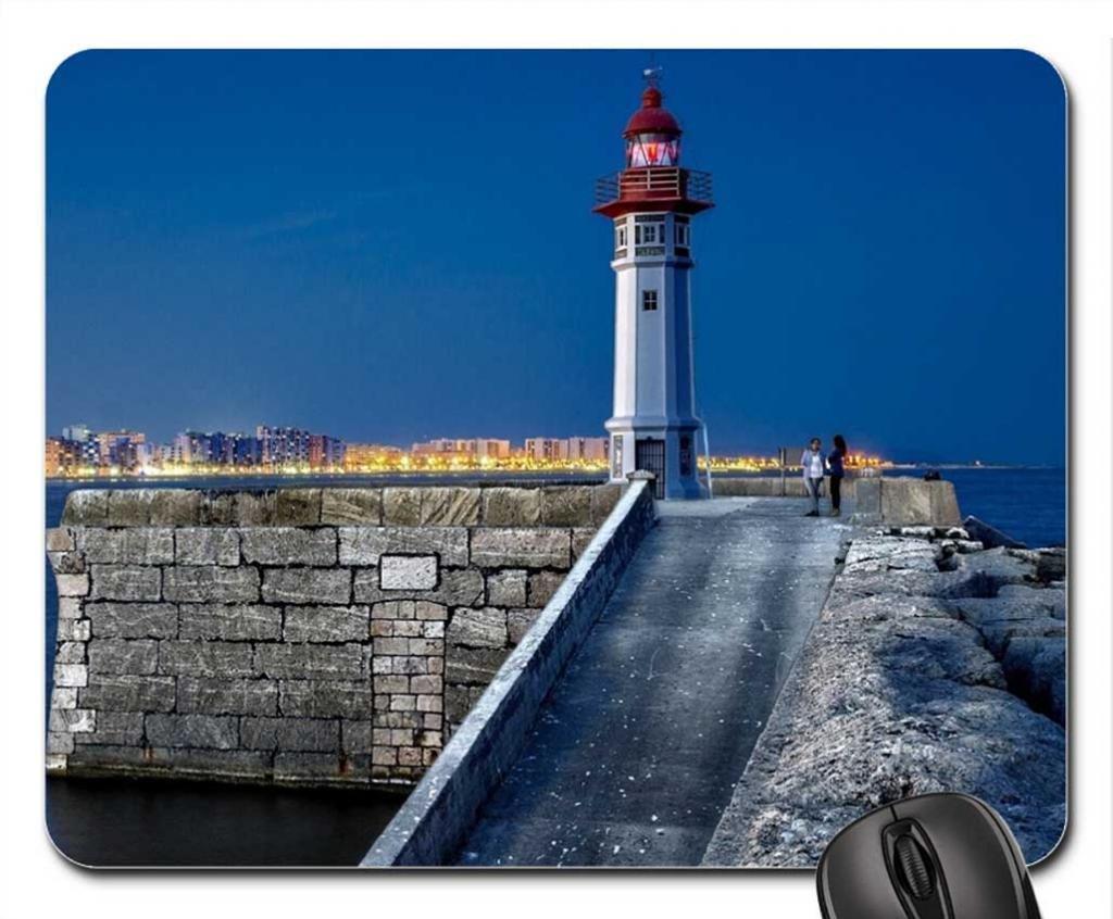 Maravillosa entrada en España lighthouse en harbor cojín de ratón, Mousepad (faros cojín de ratón): Amazon.es: Oficina y papelería