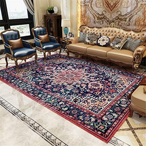 Retro-Bohemien-Fußmatten Im Teppichstil des Ethnischen Stils, rutschfeste Wohnzimmer-Couchtischmatten, Fußmatten Für Das Schlafzimmer Zu Hause