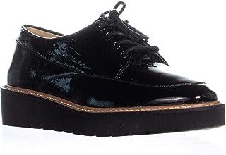 Naturalizer Auburn Platform Lace Up Oxford Sneakers, Black Patent