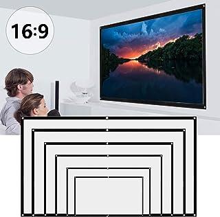 Bestine Projectorscherm 84 inch, mobiele projectiescherm met 16:9 HD-filmscherm, opvouwbaar scherm voor thuisbioscoop, ind...