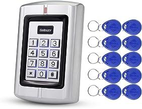 HFeng Standalone RFID Access Control System Kit Metal Keypad Keyboard 125KHz EM Card Reader + 10pcs EM4100 Proximity Keyfobs WG26 BC2000