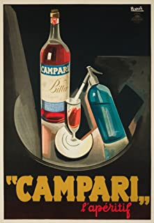 Italy - Campari - l'aperitif - (artist: Nizzoli c. 1926) - Vintage Advertisement (24x36 Giclee Gallery Print, Wall Decor Travel Poster)