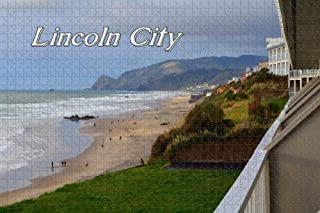 Jigsaw Puzzle for Adults USA America Lincoln City Oregon Coast Puzzle 1000 Piece Wooden Travel Souvenir