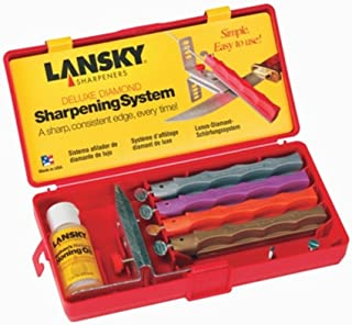 Lansky Sharpeners LKDMD Deluxe Diamond Knife Sharpening System