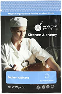 Pure Sodium Alginate (Molecular Gastronomy) ⊘ Non-GMO ☮ Vegan ✡ OU Kosher Certified- 100g/4oz