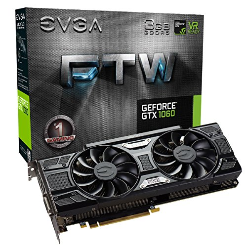EVGA GeForce GTX 1060 3GB FTW GAMING ACX 3.0, 3GB GDDR5