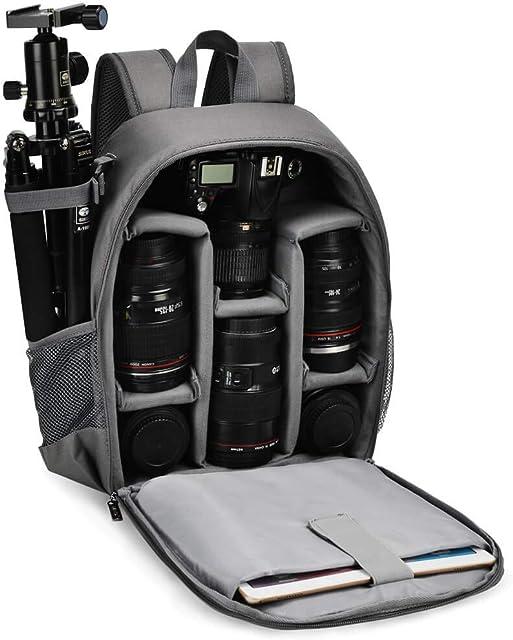 CADeN Mochila Cámara Réflex Professional para DSLR/SLR Cámara sin Espejo a Prueba de Agua Compatible con Sony Canon Nikon Accesorios para cámara y trípode de Lentes