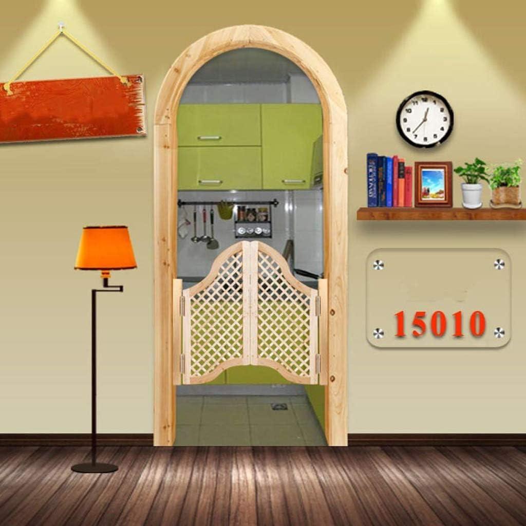 LXDDP Mesa montada en la Pared Puertas batientes Puertas café, Puertas persiana Interior Puertas batientes Madera Maciza Bar Patio Puerta Entrada Cierre automático Partición Cocina Personalizable