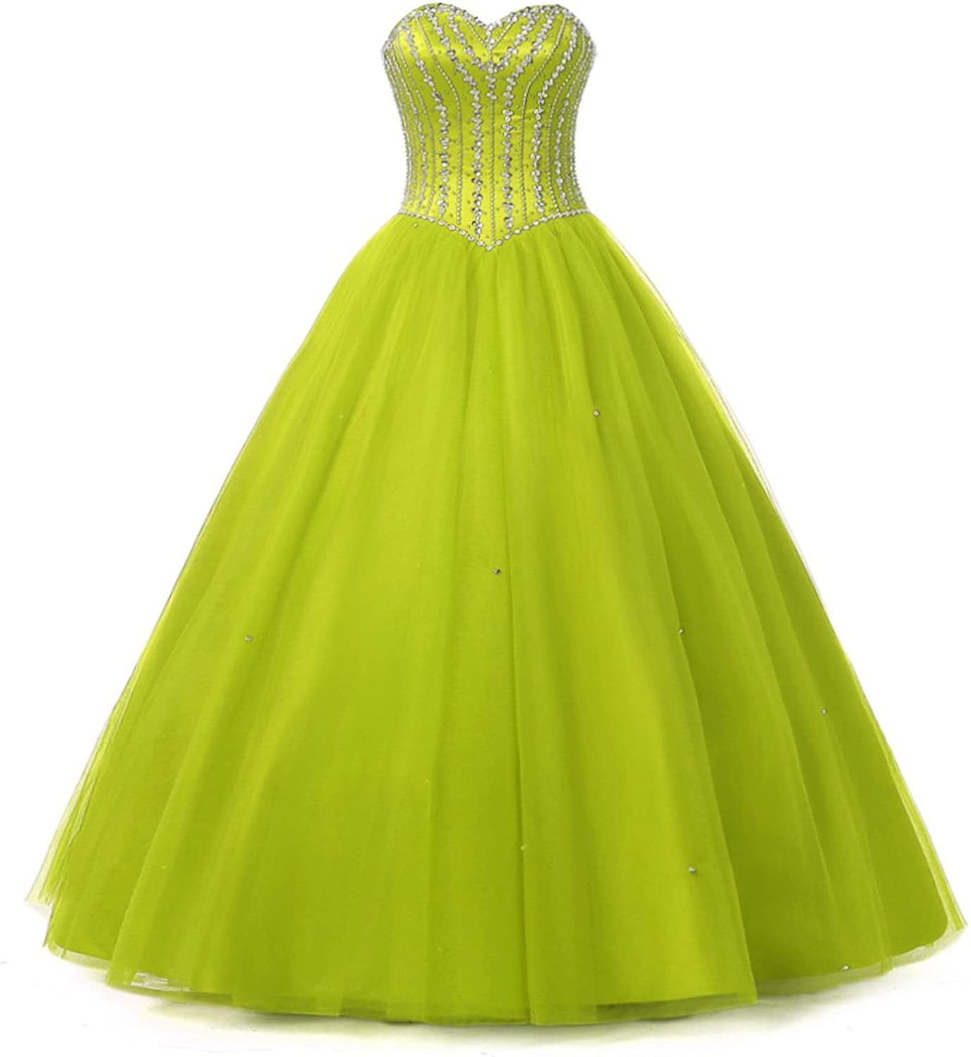 Alexzendra Girl's  Quinceanera Dress For Juniors Long Prom Dress Plus Size Beaded