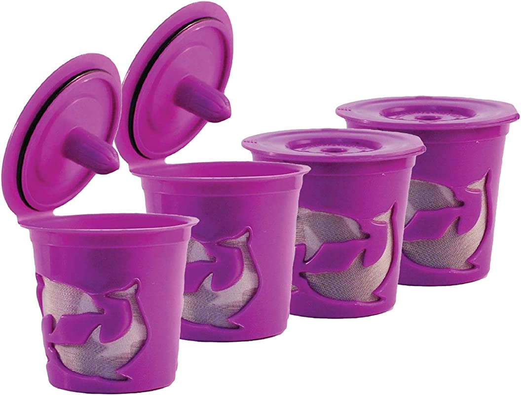 FROZ CUP 2 0 4 Refillable Reusable K Cups For Keurig 2 0 K200 K300 K400 K500 Series And All 1 0 Brewers 4 Pack