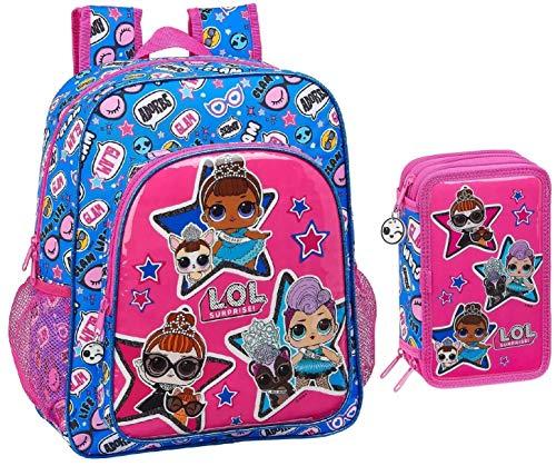 LOL Surprise Backpack and Pencil Case Girls Daypack Pencil Bag Shoulder Bag Case