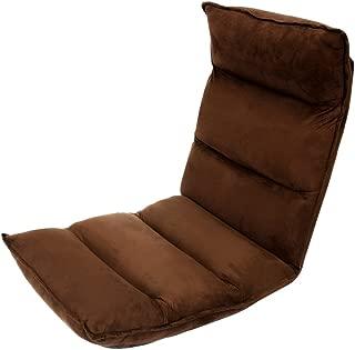 WEIMALL 座椅子 低反発 42段ギア リビング リクライニングチェア (約)幅50×奥行き65~130×高さ12~70cm ブラウン