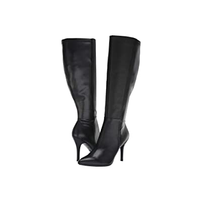 Nine West Fallon Tall Dress EXTRA WIDE Boot (Black Leather) Women