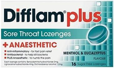 Difflam Difflam Plus Anaesthetic Sore Throat Lozenges, Menthol & Eucalyptus, 16 count