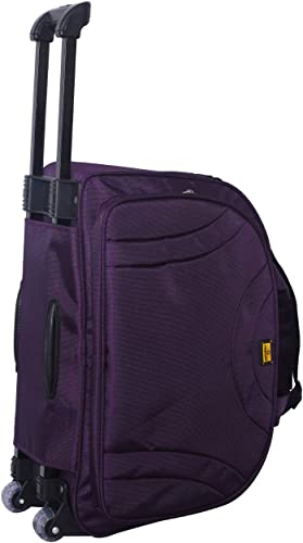Fashion 48 Litres 57 Cms Luggage Collection Trolley Wheel Bag Soft Sided Nylon Trolley Duffle Wheel Bag Luggage For Travelling Wine Purple 58 Cm Set 0F 1 Pcs