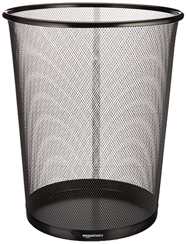 Amazon Basics Mesh Trash Can Waste Basket