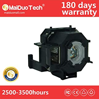 MaiDuoTech Replacement Compatible Projector Lamp Bulb for Epson ELPLP41 /V13H010L41 with Housing for Home Cinema PowerLite 77c S5 78 S6 S6+.