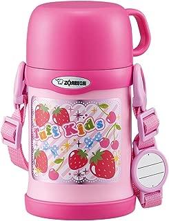 象印 水壶 2WAY 水杯&吸管 不锈钢保温杯 450ml 粉红色 SC-ZT45-PA