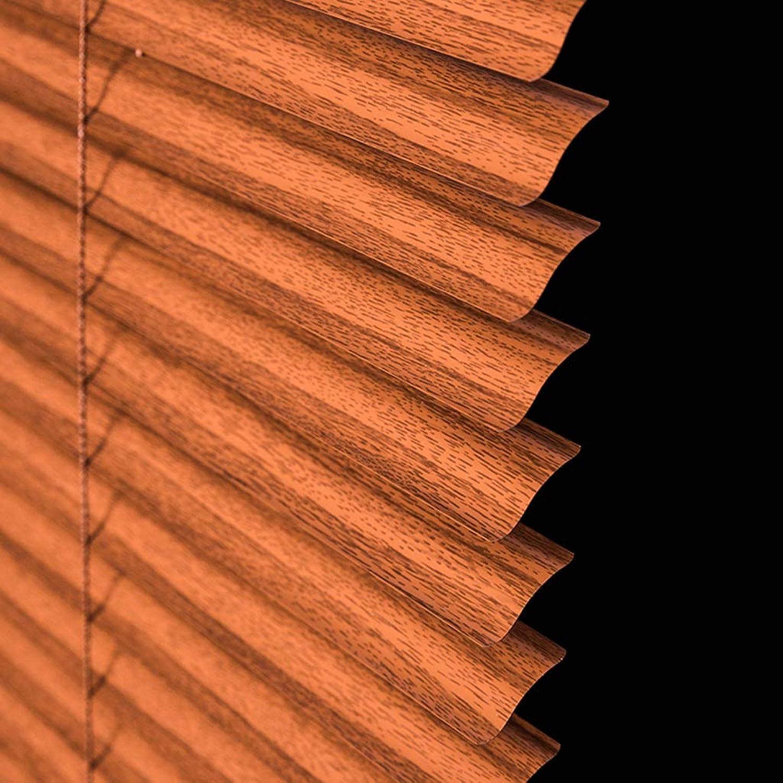 Sin impuestos Estor enrollable persianas venecianas Persianas de de de aluminio para ventanas, cortinas opacas a prueba de agua para el bao del dormitorio de la cocina, 45 65 85 105 125   135cm de ancho, grano de madera  Más asequible