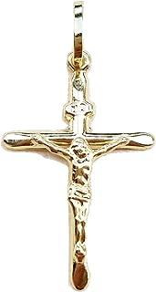 ciondolo uomo donna croce oro 18kt ciondolo crocifisso in oro 750 uomo,donna, bambini 2,5cm x 1,5cm