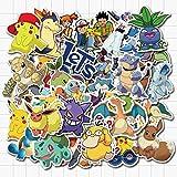 FENGLING Pokemon Pikachu Cartoon Stickers Waterproof Decal for Laptop Helmet Bicycle Luggage Guitar Car Stickers 50 PcsPokemon