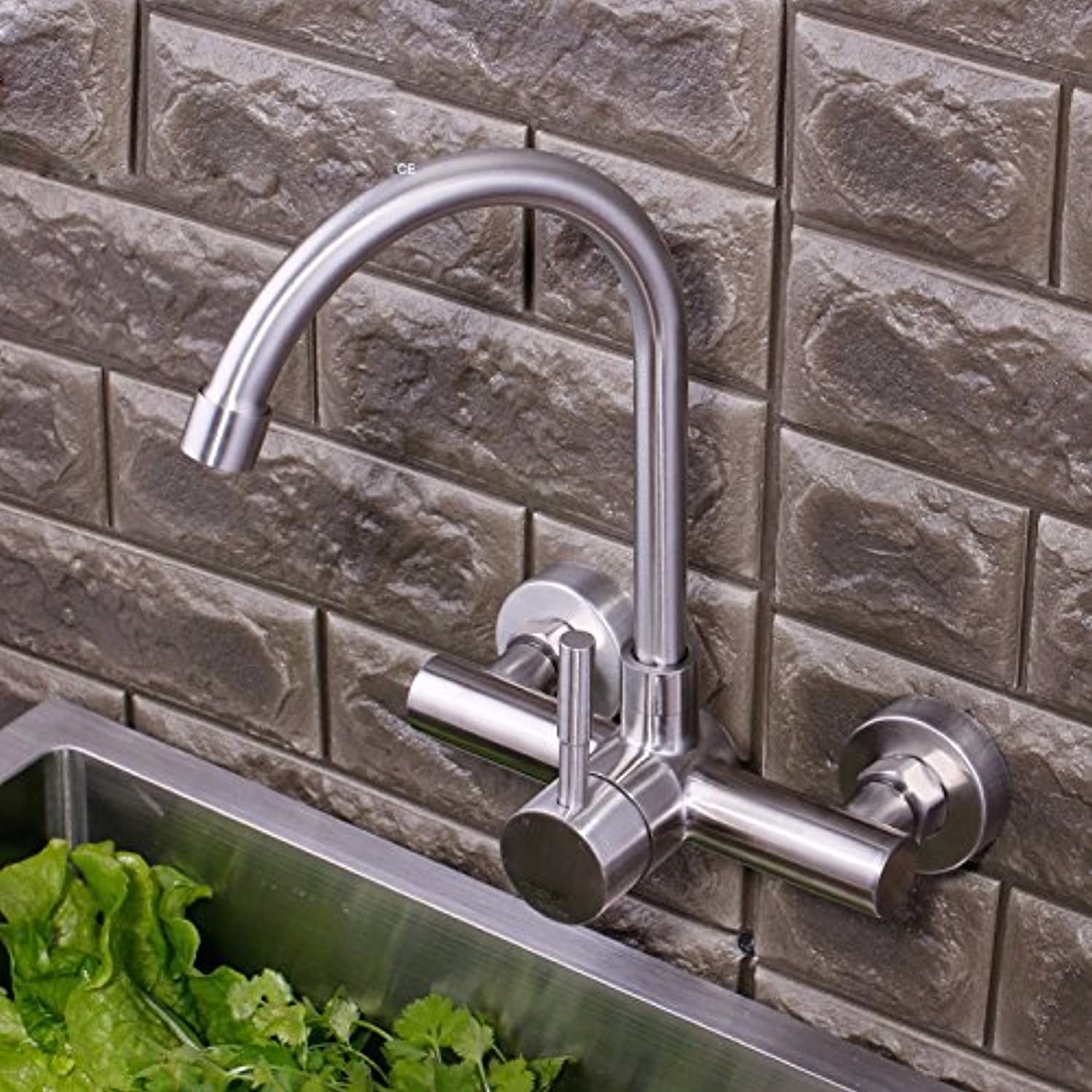 Lpophy Bathroom Sink Mixer Taps Faucet Bath Waterfall Cold and Hot Water Tap for Washroom Bathroom and Kitchen Stainless Steel Hot and Cold Universal redation B