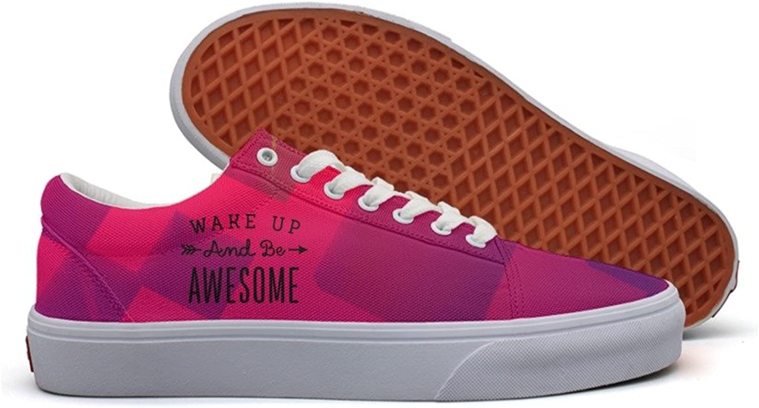 Wake up and be awesome womens utility canvas shoes for women