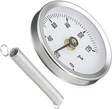 Espeedy Termómetro de tubo,63MM 0-120 Centígrados Clip-On Pipe Dial termómetro temperatura temperatura del metal con resorte