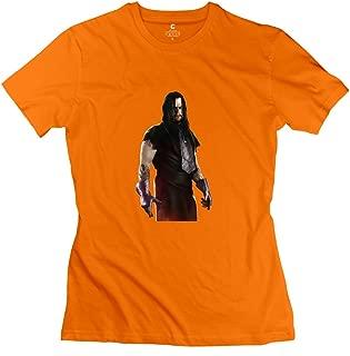 StaBe Female Wwe Undertaker T-Shirt 100% Cotton Quotes XXL Orange