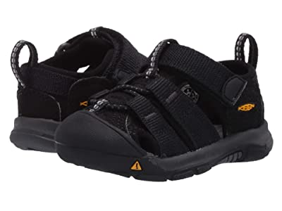 Keen Kids Newport H2 (Toddler) (Black/Keen Yellow) Kids Shoes