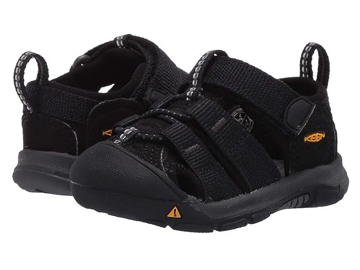 Keen Kids  Newport H2 (Toddler) (Black/Keen Yellow) Kids Shoes