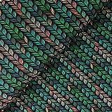 Glünz Softshell Zopfstrick grün - Stoff - Meterware -