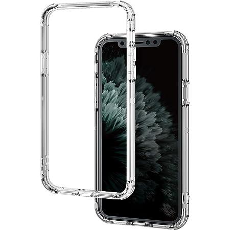 エレコム iPhone 11 Pro ケース ハイブリッドバンパー 耐衝撃+軽量[エアークッションで四隅を保護] クリア PM-A19BHVBCR