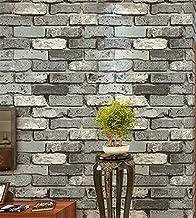 Special/Simple Wallpaper Retro Restaurant Clothing Store Wallpaper 53 * 1000cm 79101 Off-White (Color : 79104 Black Brick,...