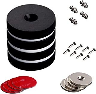 MUTUACTOR 4PCS Non-Broken Plastic Coated N52 Neodymium Strong Magnets Disc,Waterproof, Super Powerful Rare Earth Magnets with Countersunk Holes, Heavy Duty Magnet with 3M Self- Adhesive,Screw&nut