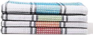 White Rose RK 116 4 Pieces Assorted Kitchen Towel Set, Multicolour - 45x70 cm