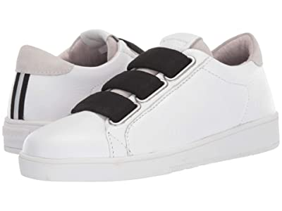 Blackstone Low Sneaker 3 Strap RL82 (White/Black) Women