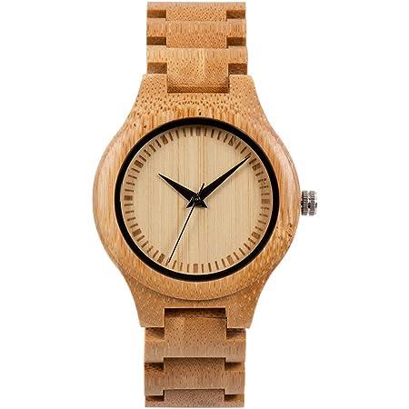Bewell 木製腕時計 メンズ 竹 腕時計 クオーツ 竹製 腕時計 軽量 カジュアル 人気 天然木 竹製腕時計 贈り物
