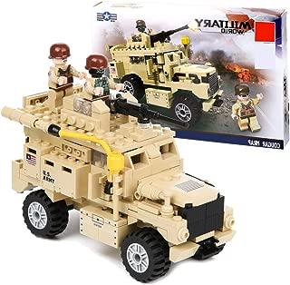 PROLOSO Cougar MRAP Military Building Bricks Vehicle Army Car Model Toys for Boys 288 PCS