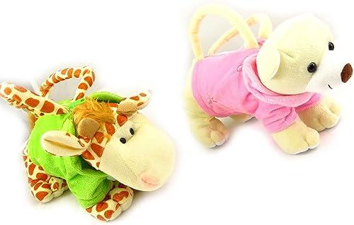 Set Besteehend aus zWeißaschen gefüllt 'Un Amour D'animaux'giraffe b