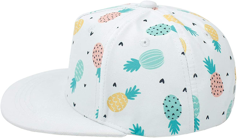 De feuilles Baby Girls Boys Summer Sun Hat Flat Brim Baseball Cap Cute Cartoon Pattern Hats