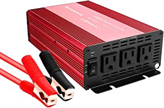 Buywhat BW-1000 1000W Power Inverter 12V DC to 110V AC Car Converter 3 AC Outlets for Home RV