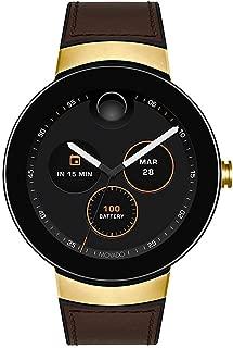 Connect Digital Smart Module Yellow Gold Smartwatch, Black/Gold/Brown (Model 3660021)