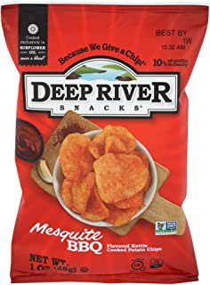 Deep River Snacks Mesquite BBQ Kettle Cooked Potato Chips, 1-Ounce (Pack of 80)