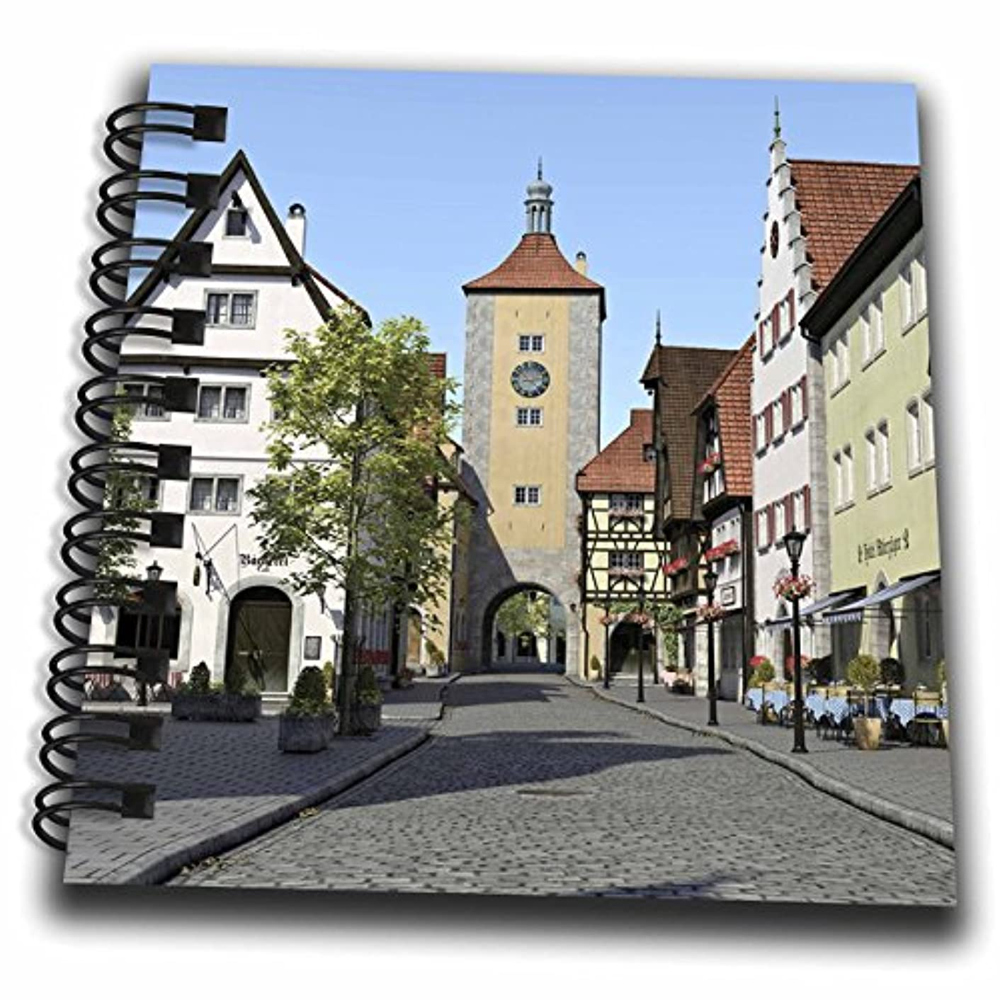 3D Rose Bavarian Town Main Street Mini Notepad 4