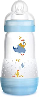 MAM Baby Bottles for Breastfed Babies, MAM Baby Bottles Anti Colic, Boy, 9 Ounces, 1-Count