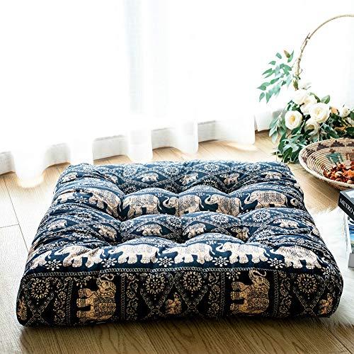FAMIFIRST Floor Cushion Square Solid Cotton Linen Meditation Yoga Floor