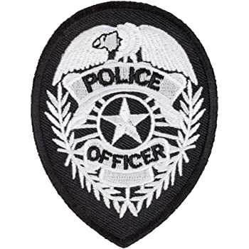 POLICE large Embroidered PATCH//BADGE