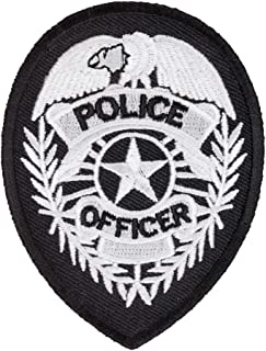 police badge black and white